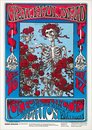 Vintage Grateful Dead Poster