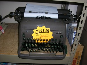 A classic tank of a manual typewriter. I spent many hours typing away on this exact model.