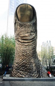 The Famous french sculpture La Pouce by César Baldaccini