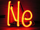 Neon is one of the six noble gases.