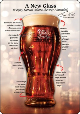 While the big three market inanity and humor, Sam Adams marketing efforts focus on beer and helping it taste even better.