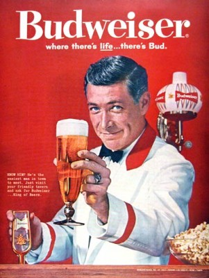 "An ad from Budweiser's glory days as truly the ""King of Beers"", at least in sales."
